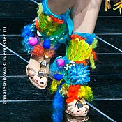 """Гетры ручной работы. Ярмарка Мастеров - ручная работа Шибористые гетры """"Морские жители"""". Handmade."""