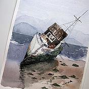 Картины и панно ручной работы. Ярмарка Мастеров - ручная работа Кораблик на мели. Handmade.