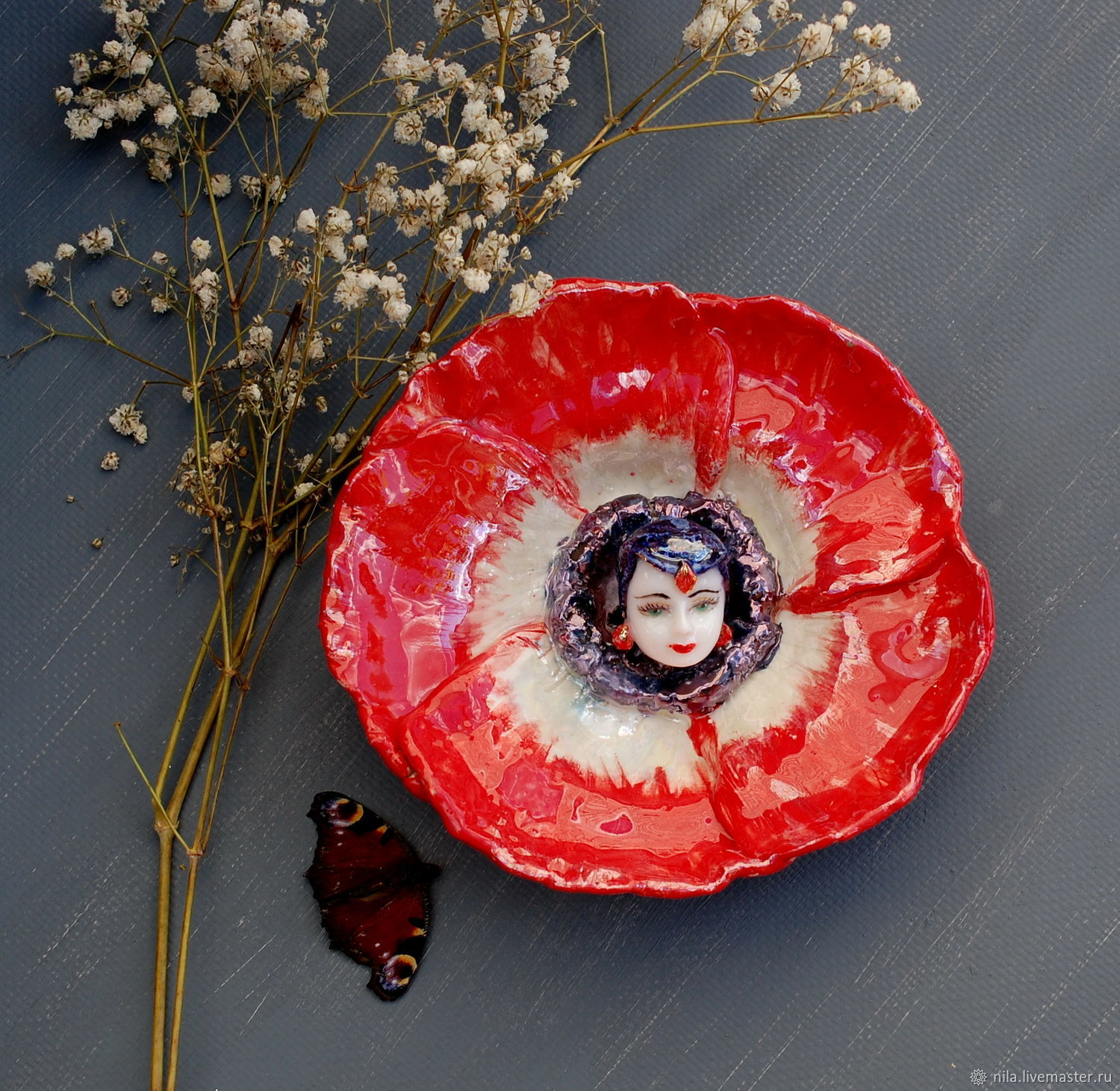 Poppy Fairy Vase Shop Online On Livemaster With Shipping