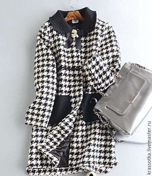 """Верхняя одежда ручной работы. Ярмарка Мастеров - ручная работа. Купить Пальто """"Гусиная лапка"""". Handmade. Серый, на каждый день"""