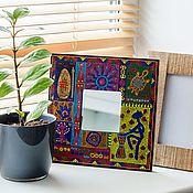 Для дома и интерьера handmade. Livemaster - original item Mirror decorative African mood (1) hand-painted. Handmade.