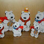 Подарки к праздникам ручной работы. Ярмарка Мастеров - ручная работа Фигурки медвежат. Handmade.