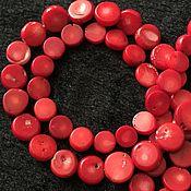 """Бусины ручной работы. Ярмарка Мастеров - ручная работа Бусина 10 и 12 мм """"Срез"""" (34), коралл. Handmade."""