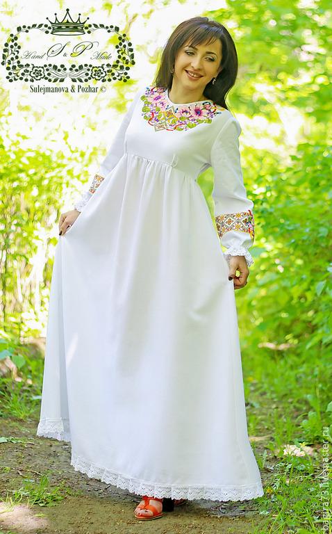 """Платья ручной работы. Ярмарка Мастеров - ручная работа. Купить """"Цветочная фантазия"""". Handmade. Сиреневый, платье для беременных, платье для девушки"""