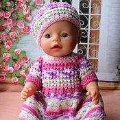 Куклы и игрушки ручной работы. Ярмарка Мастеров - ручная работа Платье с беретом для Baby Born. Handmade.