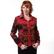 Одежда handmade. Livemaster - original item Blouse of fine velour cotton. Handmade.