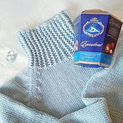 Одежда handmade. Livemaster - original item Pale blue sweater with fancy collar. Handmade.