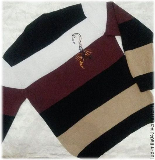 """Для мужчин, ручной работы. Ярмарка Мастеров - ручная работа. Купить Пуловер мужской """"Скорпион"""". Handmade. Комбинированный, пуловер мужской"""