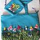 сумка летняя женская с вышивкой лентами