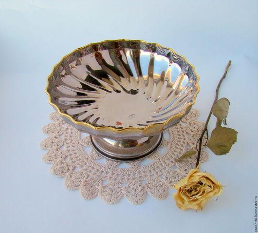 Винтажная посуда. Ярмарка Мастеров - ручная работа. Купить Ах,какая ваза!. Handmade. Серый, желтый, конфетница, италия
