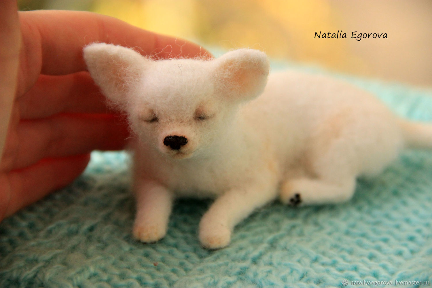 Needle felted dog sculpture Chihuahua, Felted Toy, St. Petersburg,  Фото №1