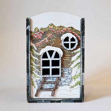 """Для дома и интерьера ручной работы. Ярмарка Мастеров - ручная работа Коробка Домик """"Зима 5"""" 8х12см. Handmade."""