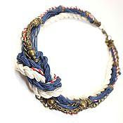 Украшения handmade. Livemaster - original item Necklace: Marine Etude Blue Handmade Necklace. Handmade.