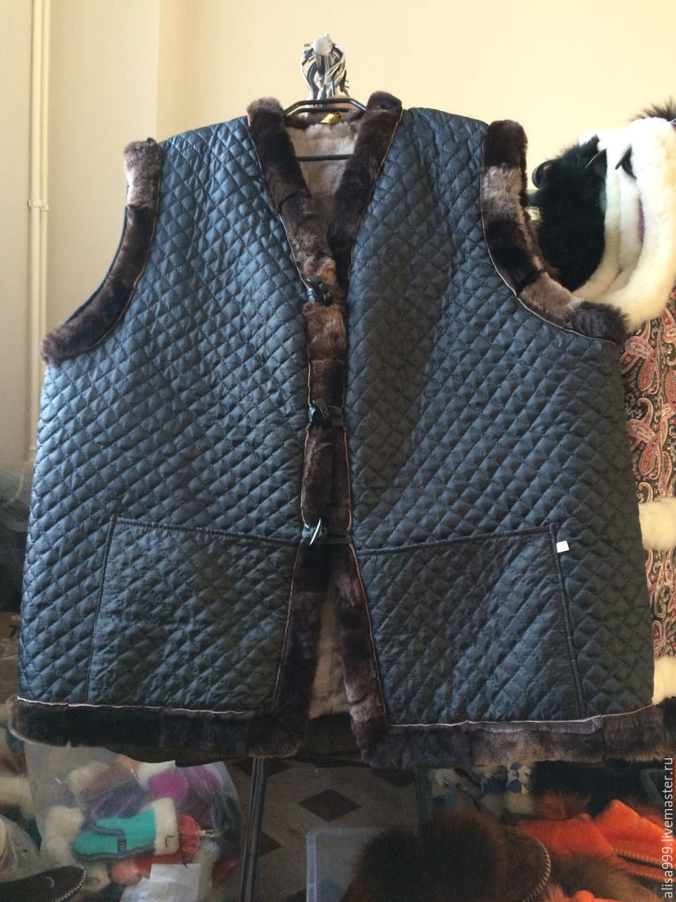 Men's vests made of sheepskin (Mouton), Vests, Moscow,  Фото №1
