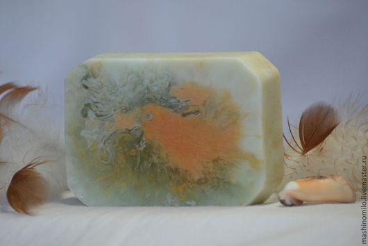 """Мыло ручной работы. Ярмарка Мастеров - ручная работа. Купить мыло-картина """"Жар-птица"""" с ментолом и магнолией, зеленый, птица. Handmade."""