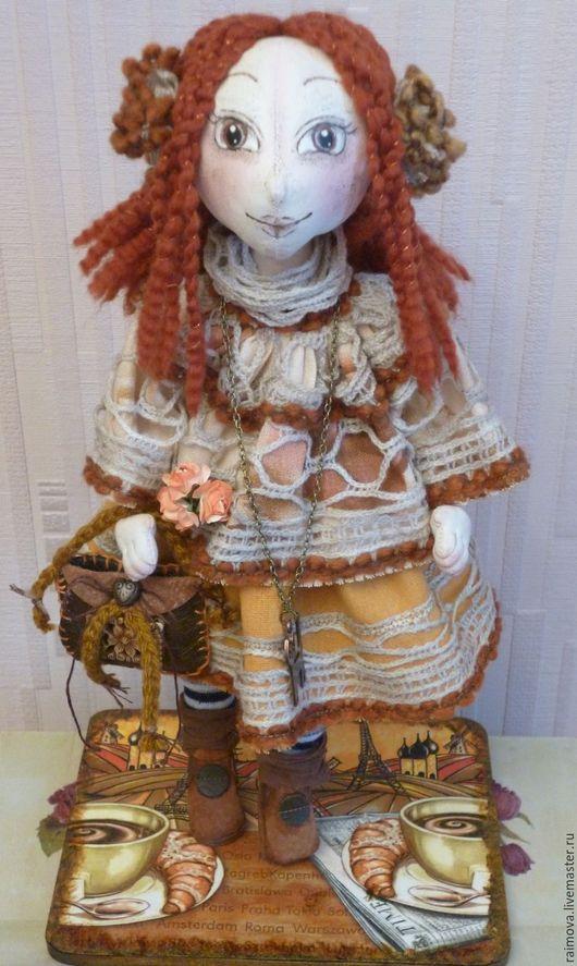 Человечки ручной работы. Ярмарка Мастеров - ручная работа. Купить Кукла для уюта и тепла этой осенью. Ручная работа .. Handmade.