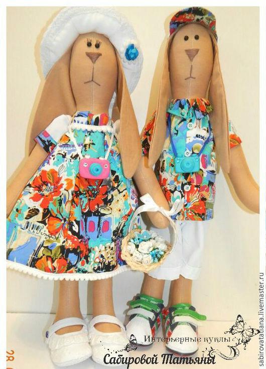Куклы Тильды ручной работы. Ярмарка Мастеров - ручная работа. Купить Зайцы Тильда. Handmade. Комбинированный, куклы и игрушки