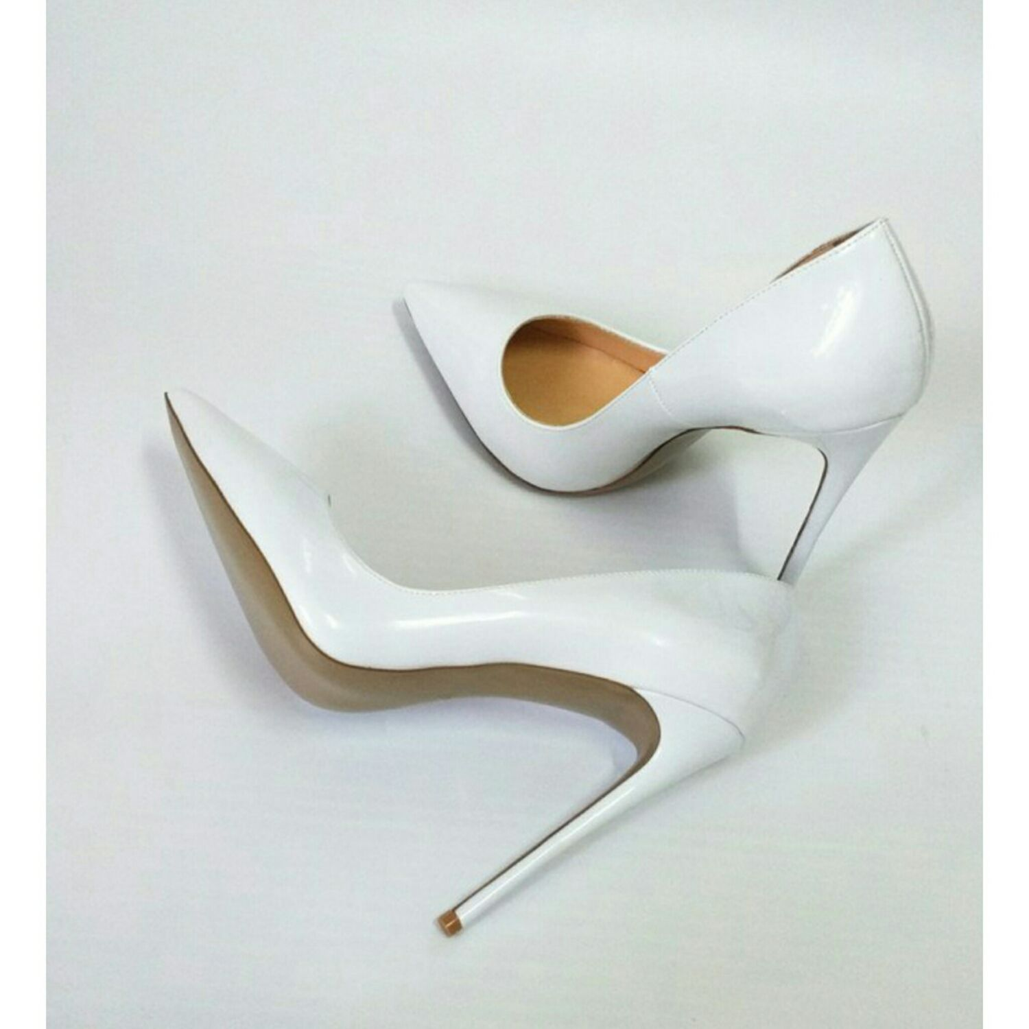 Shoes are handmade, 'White', 12 cm, Shoes, Barnaul,  Фото №1