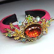Украшения handmade. Livemaster - original item Blooming garden bracelet with citrine. Handmade.