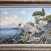 """Картины ручной работы. Ярмарка Мастеров - ручная работа Картины: """"Амальфитанское побережье"""". Handmade."""