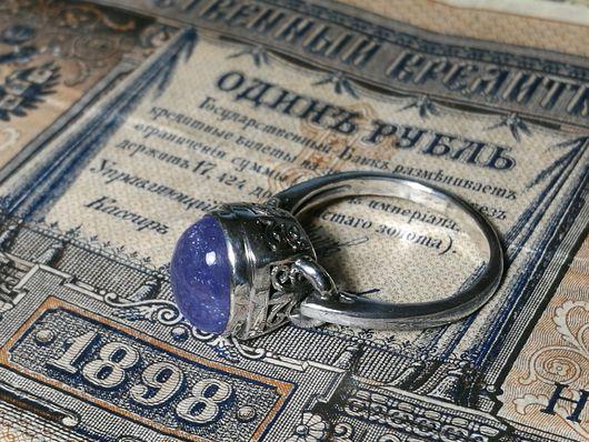 Кольца ручной работы. Ярмарка Мастеров - ручная работа. Купить Кольцо с  танзанитом. Handmade. Кольцо с танзанитом, бохо