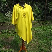 Одежда ручной работы. Ярмарка Мастеров - ручная работа Платье жёлтое.Платье большого размера,Платье нарядное, женская одежда.. Handmade.