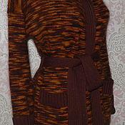 Пальто ручной работы. Ярмарка Мастеров - ручная работа Кардиган из ангоры Щербет в шоколаде. Handmade.