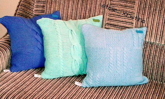 """Текстиль, ковры ручной работы. Ярмарка Мастеров - ручная работа. Купить """"Уют"""". Handmade. Подушки, украсить дом подушками, ткань"""