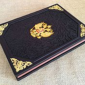 Подарки к праздникам handmade. Livemaster - original item Gumilev L. N. - FROM RUSSIA TO RUSSIA in leather binding. Handmade.