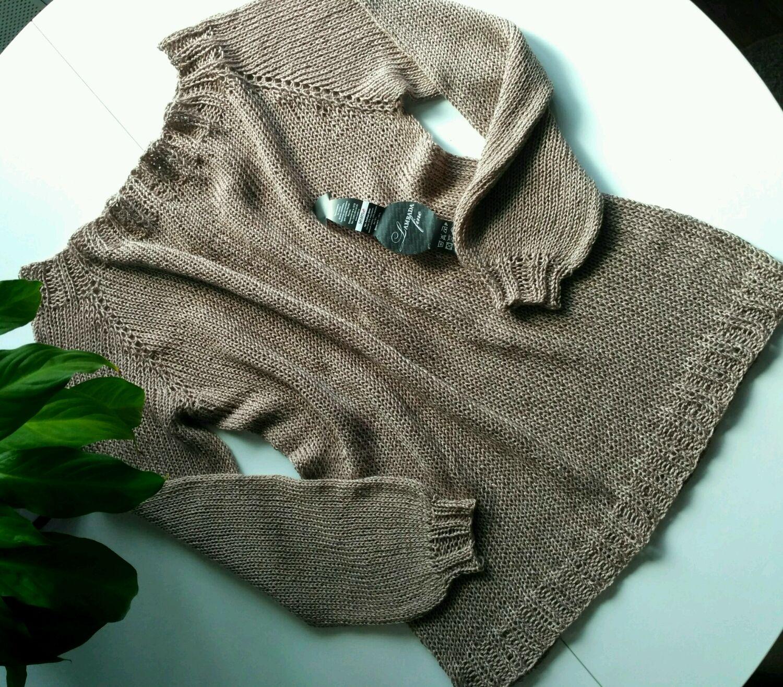 Long cardigan made of Italian cotton/viscose, Jumpers, Miass, Фото №1