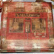 Для дома и интерьера ручной работы. Ярмарка Мастеров - ручная работа Cafe de Paris большая шкатулка. Handmade.
