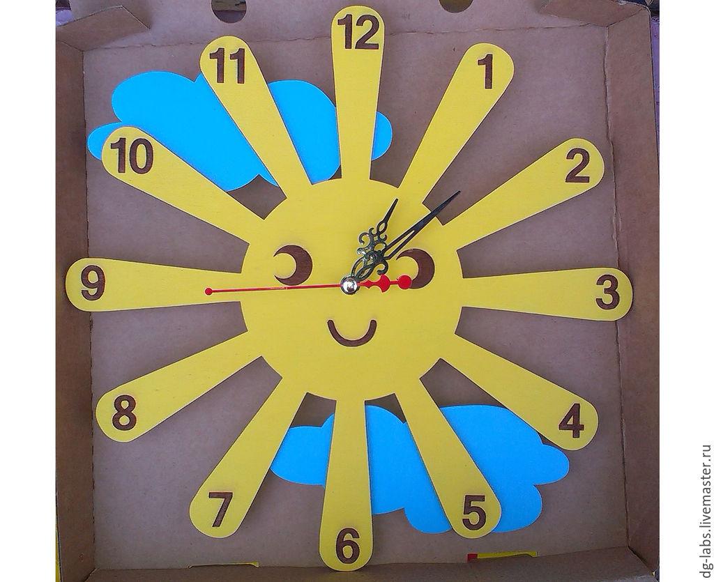 Часы настенные в виде солнца своими руками 145