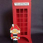 Подарки к праздникам ручной работы. Ярмарка Мастеров - ручная работа Чайный домик английская телефонная будка. Handmade.