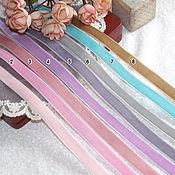Ленты ручной работы. Ярмарка Мастеров - ручная работа 12 мм Бархатная лента. Handmade.