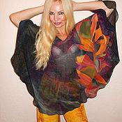 Одежда ручной работы. Ярмарка Мастеров - ручная работа блуза круглая- Оранжевые листья. Handmade.