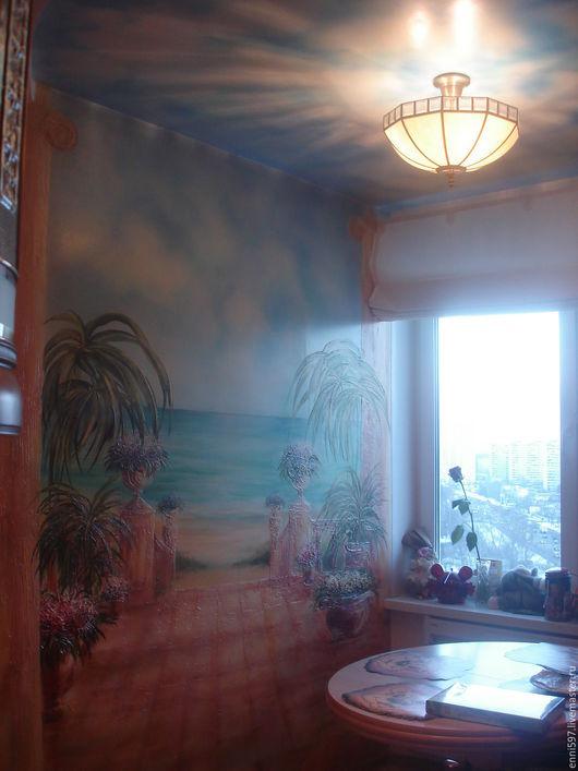 Фантазийные сюжеты ручной работы. Ярмарка Мастеров - ручная работа. Купить роспись стен. Handmade. Комбинированный, роспись стен