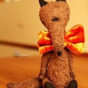 Куклы и игрушки ручной работы. Ярмарка Мастеров - ручная работа Волчонок на примерке бабочки.. Handmade.