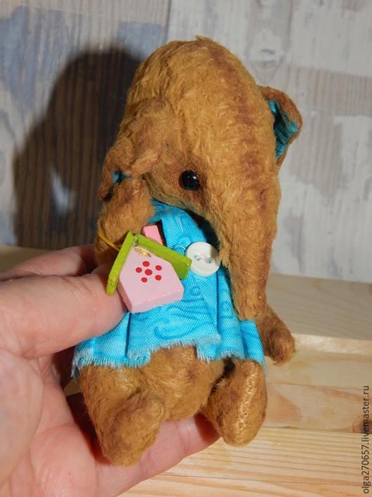 Мишки Тедди ручной работы. Ярмарка Мастеров - ручная работа. Купить Слоник-стесняшка Валечка. Handmade. Бежевый