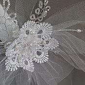 Свадебный салон handmade. Livemaster - original item The veil, the hair. Handmade.