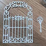 Материалы для творчества handmade. Livemaster - original item !Cutting scrapbooking Garden gate design cardboard. Handmade.