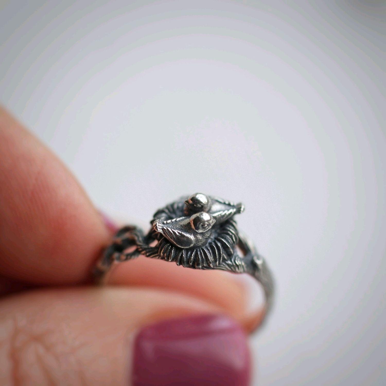 Кольцо Птахи, серебро 925 с чернением, Кольца, Санкт-Петербург,  Фото №1