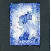 """Картины и панно ручной работы. Ярмарка Мастеров - ручная работа Акварель """"Зима"""". Handmade."""