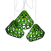 Для дома и интерьера handmade. Livemaster - original item ZAHA LIGHT dark green trehrozhkovye chandelier. Handmade.