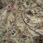 Ткани ручной работы. Ярмарка Мастеров - ручная работа Ткань гобеленовая- розы шебби. Handmade.