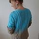 Кофты и свитера ручной работы. Ярмарка Мастеров - ручная работа. Купить Джемпер Песок и море. Handmade. Бирюзовый, джемпер женский