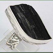 Украшения ручной работы. Ярмарка Мастеров - ручная работа Кольцо с черным турмалином. Handmade.