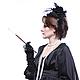 """Диадемы, обручи ручной работы. Ободок-шляпка с вуалью и перьями """"Таинственная незнакомка"""". Одежда для женщин шикарных размеров (seanna12). Ярмарка Мастеров."""
