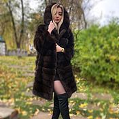 Одежда handmade. Livemaster - original item The fur of the marten. Fur coat marten. Handmade.