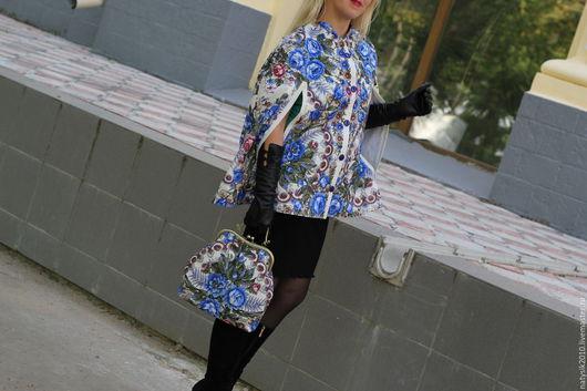 """Верхняя одежда ручной работы. Ярмарка Мастеров - ручная работа. Купить Кейп и сумочка """"Весеннее утро"""". Handmade. Разноцветный, кейп"""