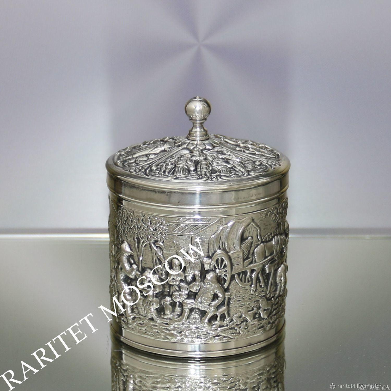 Винтажная посуда. Ярмарка Мастеров - ручная работа. Купить Винтаж: Банка сахарница чайница ваза латунь серебрение 3. Handmade.